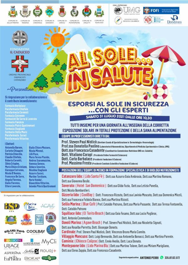 """images Montepaone. Domani al 'Marina Blu' la presentazione della II edizione dell'iniziativa""""Al Sole... in Salute"""""""