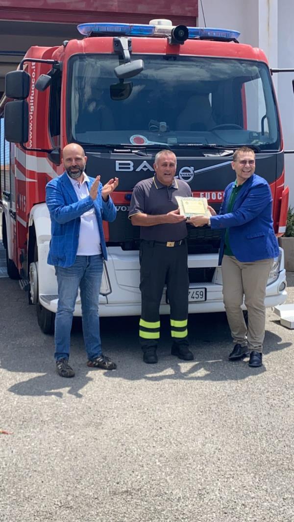 """images Melito Porto Salvo. """"O Nostos"""" 2021: vince il premio il vigile del fuoco Antonino Modaffari"""