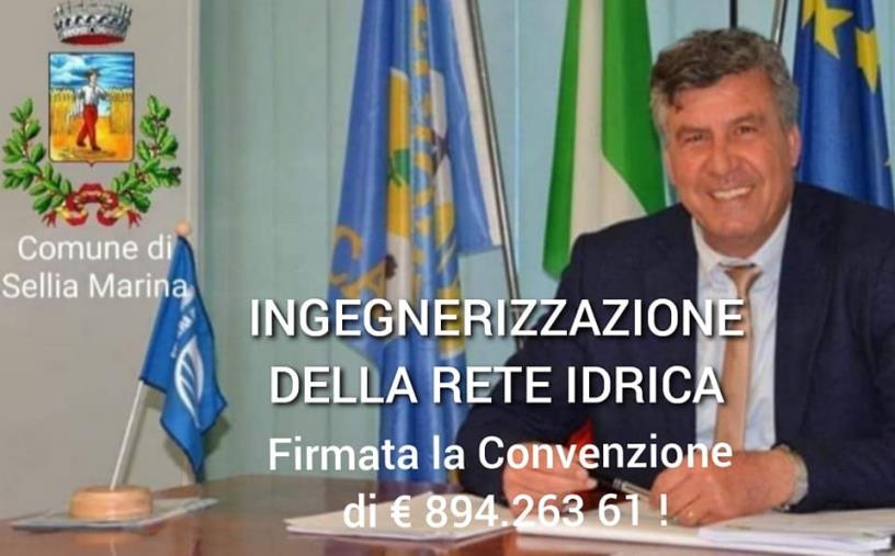 images Sellia Marina. Ingegnerizzazione reti idriche: firmata la convenzione da 900 mila euro
