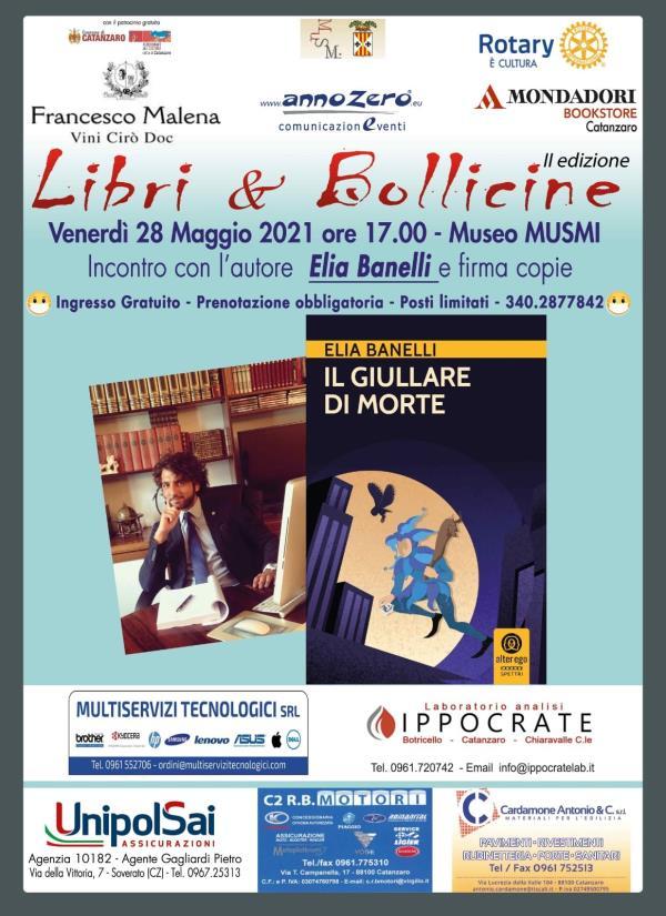 """images Catanzaro. """"Libri & bollicine"""": venerdì, al Musmi, ospite Elia Banelli con """"Il giullare di Morte"""""""