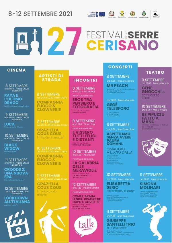 images Parte oggi il 27esimo festival delle Serre di Cerisano: gli eventi in programma