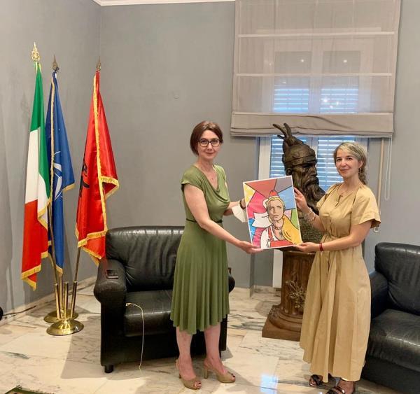 images Roma. Rafforzato il sodalizio tra Caraffa e l'Ambasciata d'Albania, apprezzate le attività a tutela della cultura arbëreshë