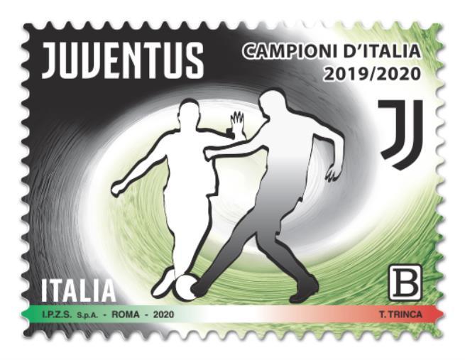 images Poste italiane.  Emesso un francobollo per celebrare la Juventus campione d'Italia 2019/2020