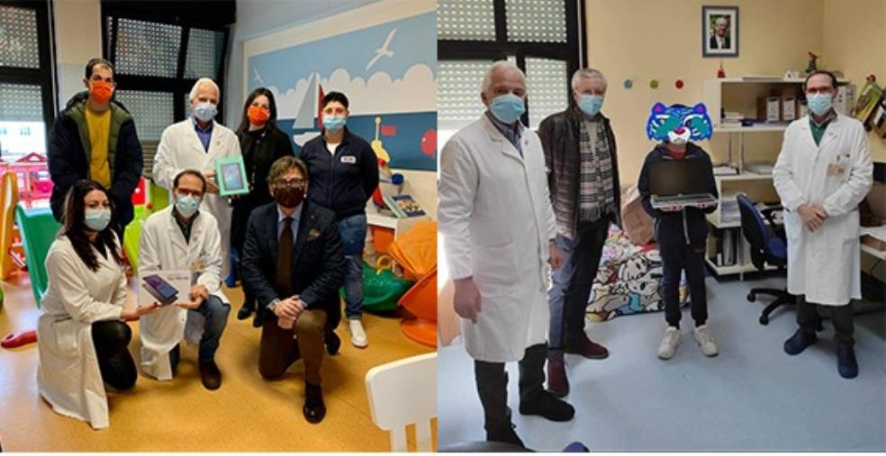images Acsa&Ste Onlus con i Lions Club Catanzaro Host e il Rotary Club Catanzaro donano pc e tablet ai piccoli pazienti