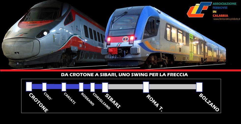 """images Al via la campagna """"Uno Swing per la Freccia"""" dell'associazione Ferrovie in Calabria per un treno regionale Crotone- Sibari"""