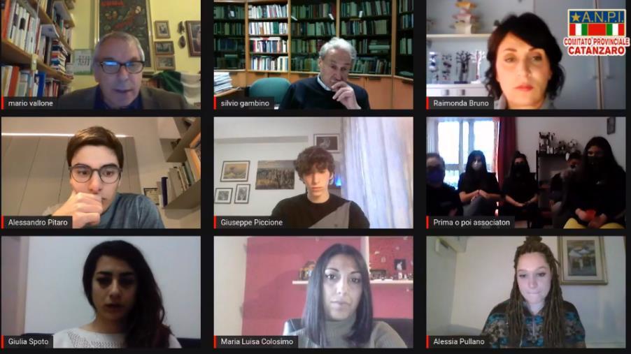 images Verso il 25 aprile. Il pensiero dei giovani su Resistenza e Costituzione nel webinar dell'Anpi Catanzaro