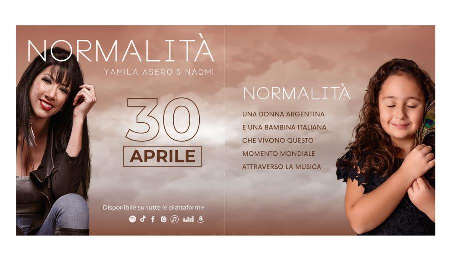 """images """"Normalità"""": online il primo singolo della cantante catanzarese Naomi Vigliarolo e della celebre vocal coach argentina Yamila Asero"""