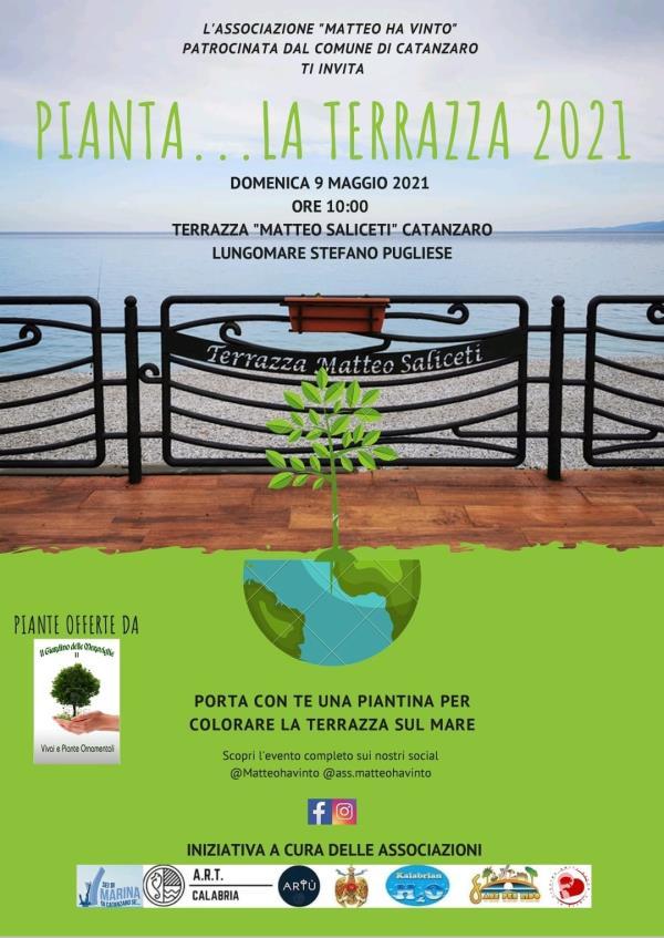 """images """"Pianta...la terrazza 2021"""", domani la terrazza Saliceti a Catanzaro Lido """"si veste"""" di verde"""