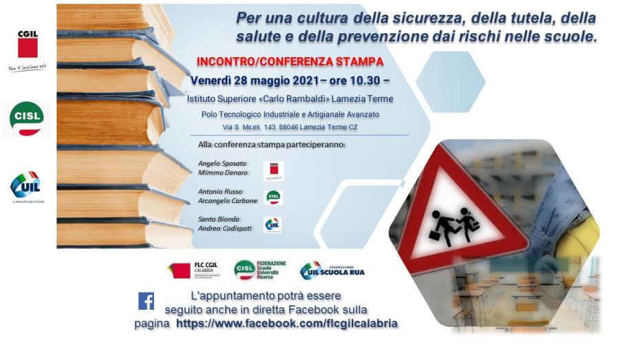 """images Come prevenire i rischi nelle scuole, se ne parlerà venerdì nell'Istituto superiore """"Carlo Rambaldi"""" di Lamezia"""
