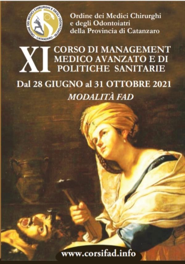 """images """"Corso di Management Medico Avanzato e di Politiche Sanitarie"""", dal 28 giugno al 31 ottobre 2021 in modalità Fad"""