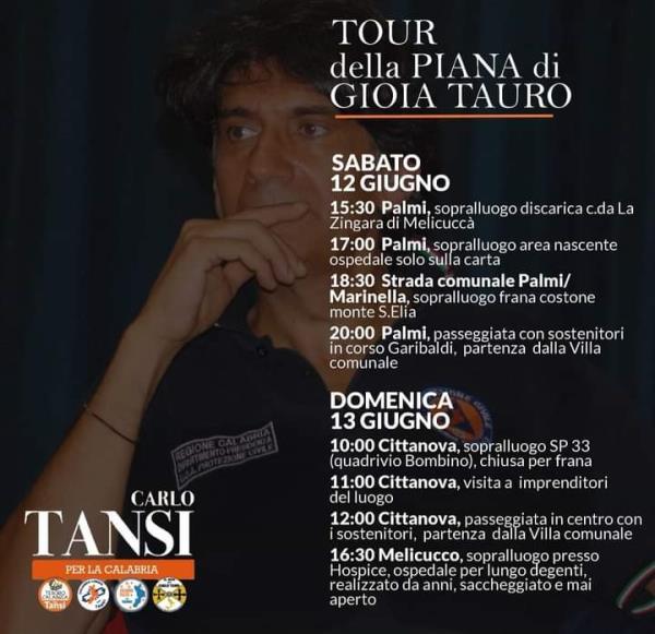 images Regionali. Intenso fine-settimana nella Piana di Gioia per il leader di Tesoro Calabria, Carlo Tansi