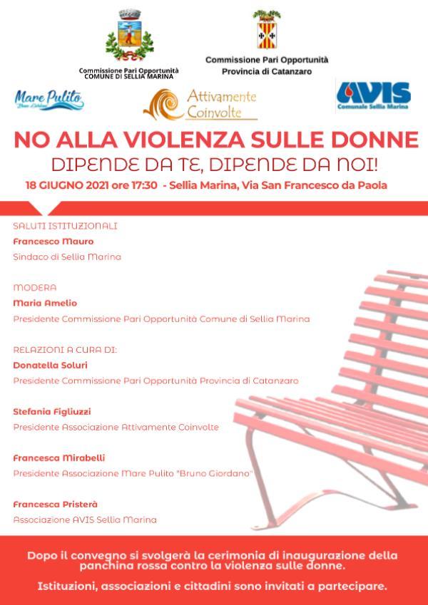 """images """"No alla violenza sulle donne! Dipende da te, dipende da noi"""": se ne parla domani a Sellia Marina"""