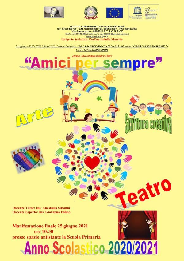 """images Teatro, sport e musica. L'Istituto comprensivo """"Alvaro"""" di Petronà celebra la fine dell'anno scolastico"""