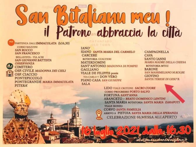 images Catanzaro. Quest'anno la processione in onore di San Vitaliano si fa in auto per abbracciare tutta la città (IL PROGRAMMA)