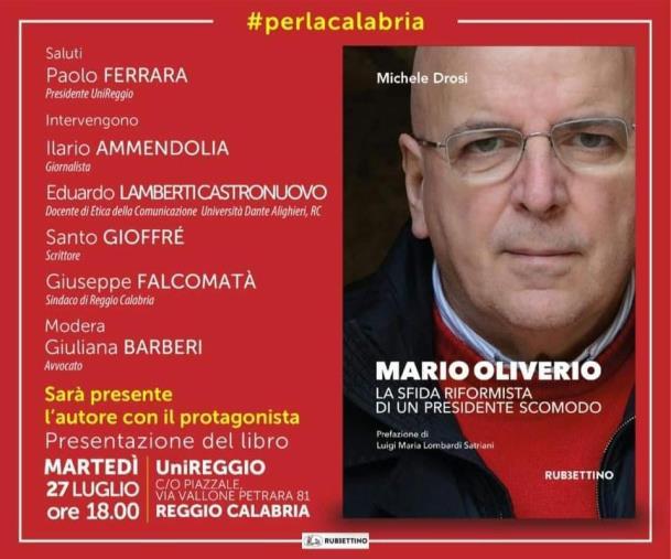 """images Reggio Calabria. Michele Drosi presenta il suo libro """"La sfida riformista di un presidente scomodo"""". Sarà presente Mario Oliverio"""