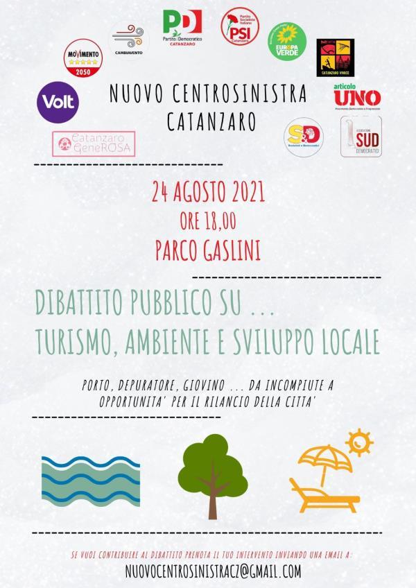 """images """"Turismo, ambiente e sviluppo locale"""": il Nuovo Centrosinistra a Catanzaro si incontra il 24 agosto"""