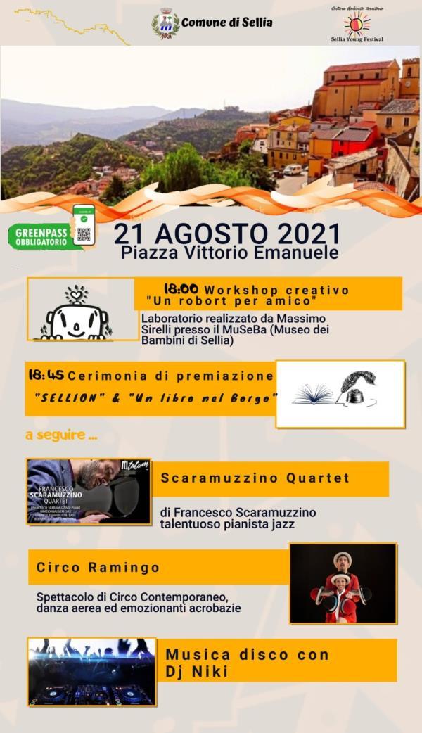 """images Domani l'ultimo appuntamento con il """"Sellia Young Festival"""". Si parte con il laboratorio di Massimo Sirelli"""
