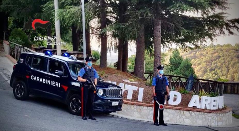 images Vibo Valentia. In due prendono a calci e pugni il portone della stazione dei carabinieri: arrestati