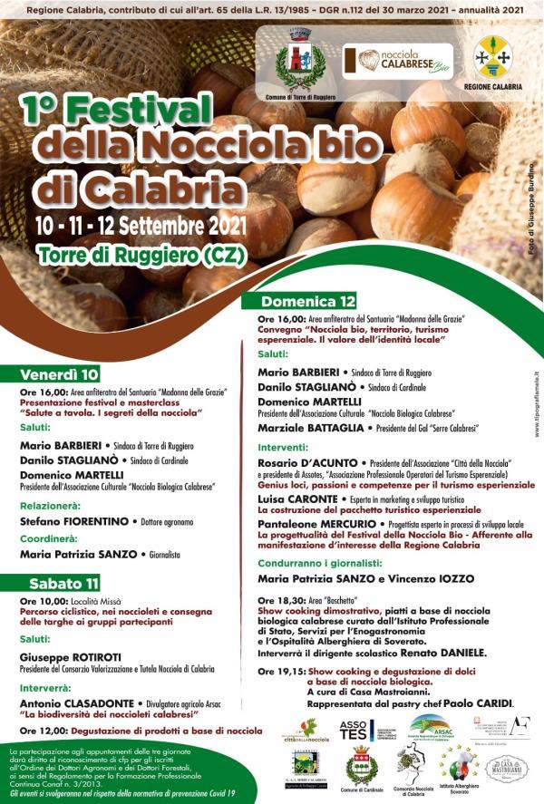 images Torre di Ruggiero, domani il via al 1° Festival della Nocciola Bio di Calabria
