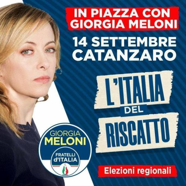 images Regionali. Domani Giorgia Meloni in Calabria: incontri a Cosenza e in piazza a Catanzaro