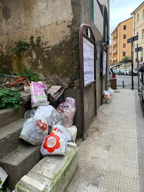 """images La vergogna dei rifiuti in via Buccarelli. L'avv. Foresta: """"Amministratori e cittadini dimettetevi"""""""