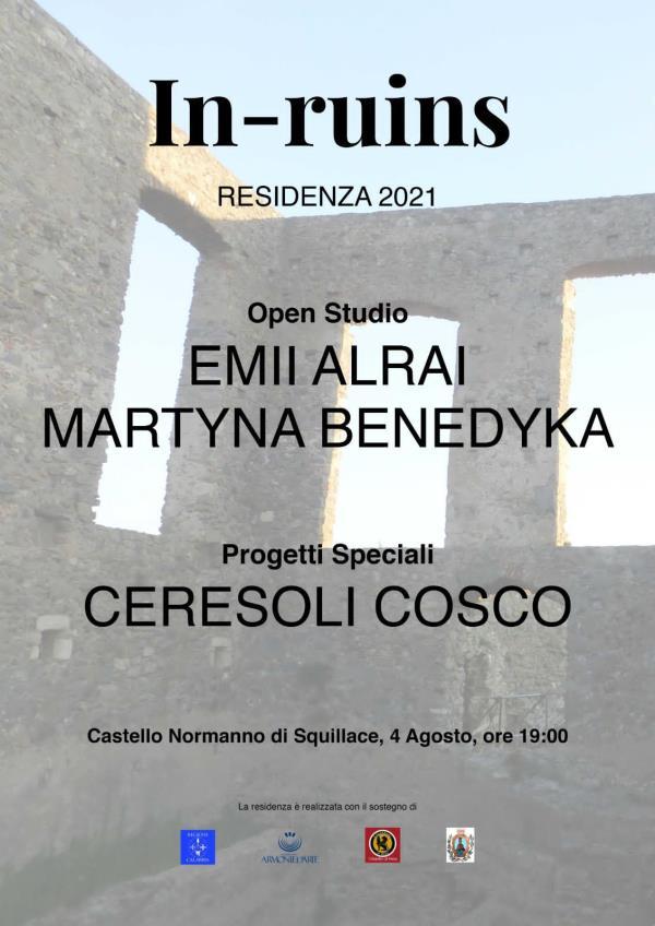 images Patrimonio archeologico del Mediterraneo. In-ruins  presenta l'open studio delle artiste Alrai,  Benedyka e del duo italiano Ceresoli Cosco