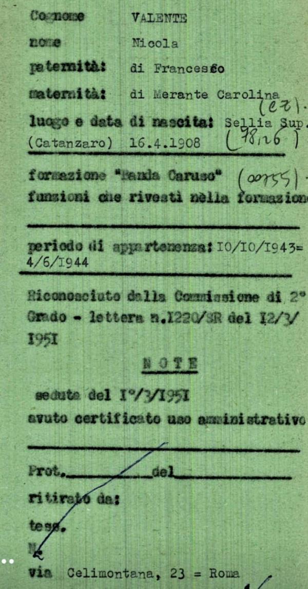 """images 25 Aprile. Sellia onora Nicola Valente, il """"suo"""" partigiano"""