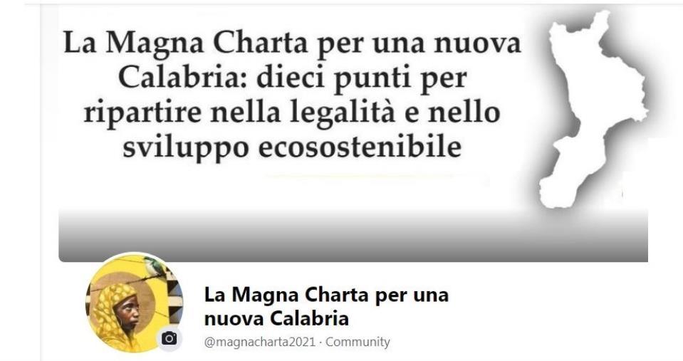 """images Elezioniregionali, inviato agli aspiranti presidente il Manifesto """"La Magna Charta per una nuova Calabria"""""""