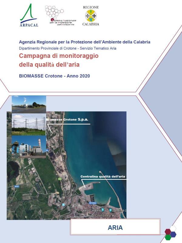 images Qualità dell'aria: online sul sito dell'Arpacal i report 2020 delle centrali a biomasse di Crotone e Strongoli