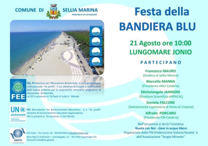 """images Sabato a Sellia Marina va in scena la """"Festa della bandiera Blu"""""""