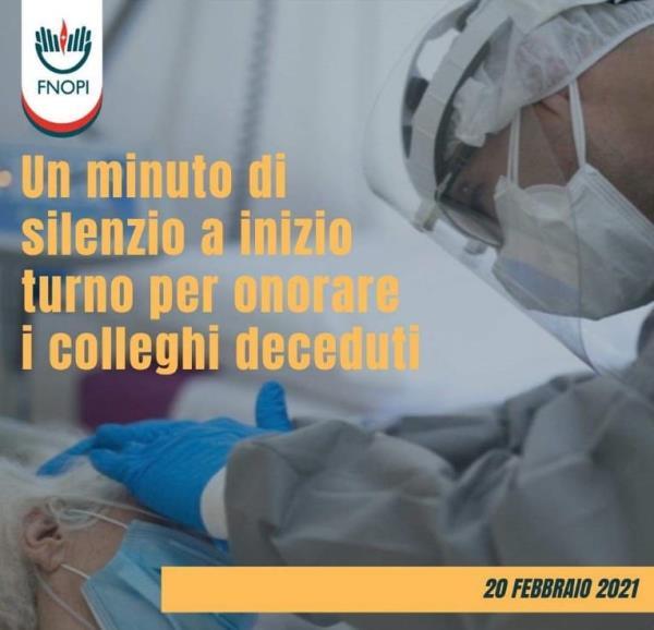 images Coronavirus. L'ordine degli infermieri a Catanzaro ricorda le vittime della pandemia