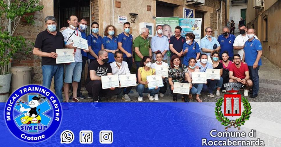 """images Roccabernarda: concluso il corso di formazione BLSD per una città """"cardio-protetta"""""""