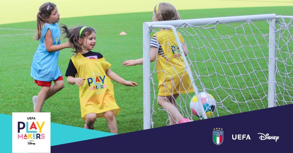 images UEFA e Disney insieme alla FIGC per incoraggiare le bambine al calcio, in Calabria riparte il progetto Playmakers