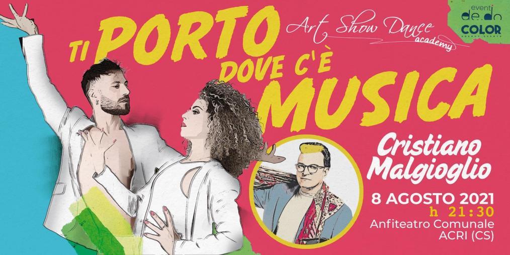 """images Acri. Spettacolo, l'8 agosto all'Anfiteatro comunale arriva Malgioglio per """"Ti porto dove c'è musica"""""""