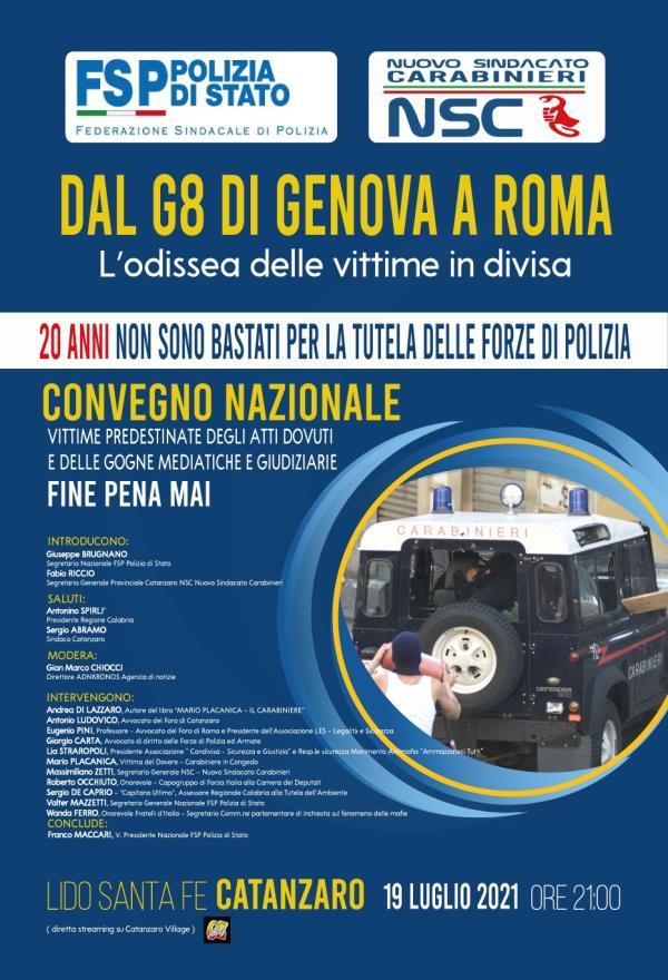 images G8 Genova. Il 19 luglio a Catanzaro contromanifestazione con l'ex carabiniere Mario Placanica
