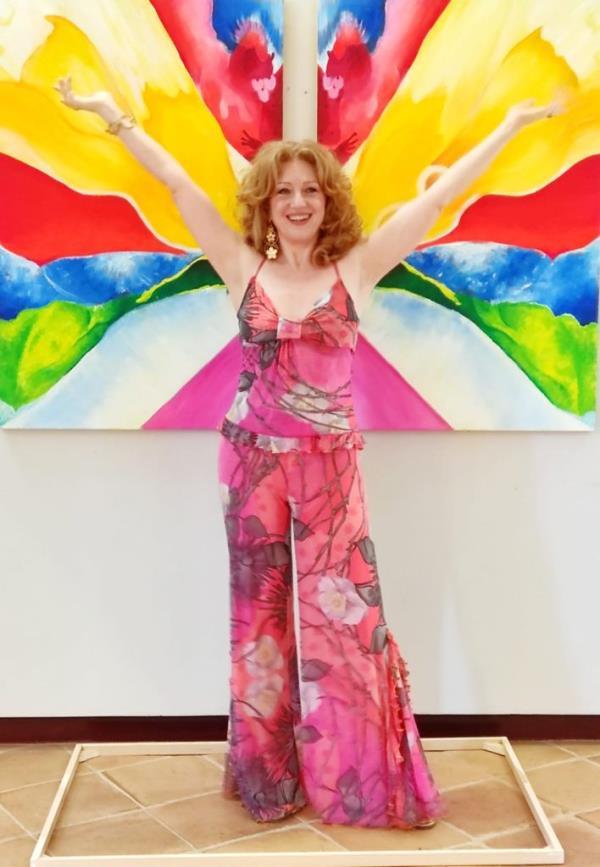 images Mostra personale della pittrice Rossella D'Aula: è successo di pubblico e critica a Corigliano Rossano