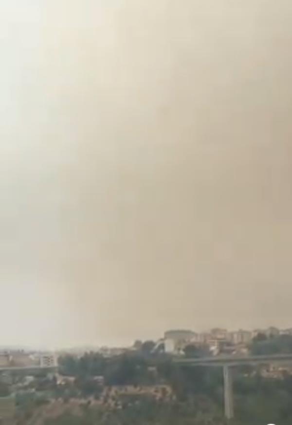 images Catanzaro continua a bruciare: la città avvolta da fumo e fuliggine