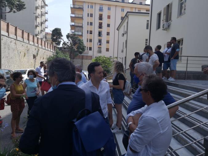 images Sant'Anna hospital, il consigliere regionale Francesco Pitaro in Procura e in Prefettura con i vertici della struttura