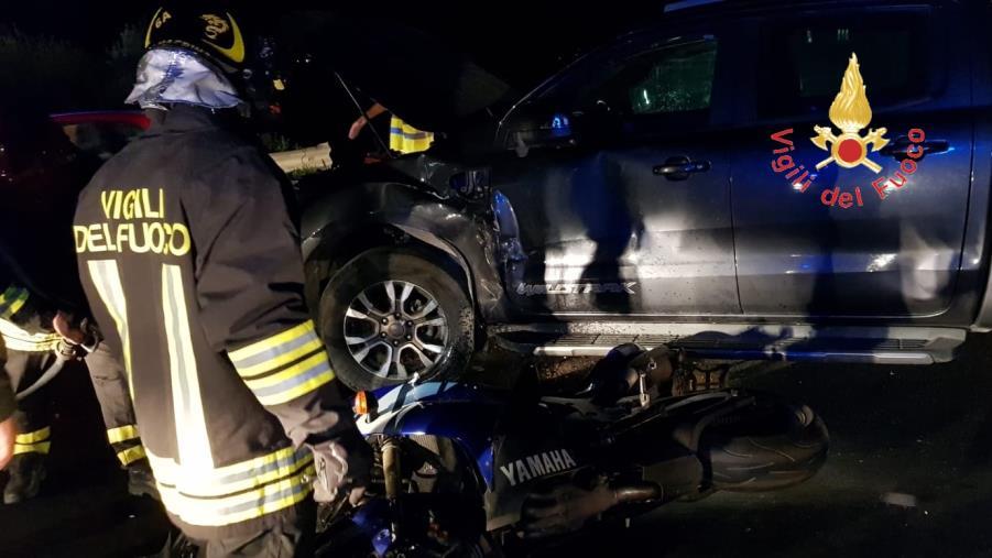 images Sellia Marina, incidente sulla statale 106: grave un motociclista