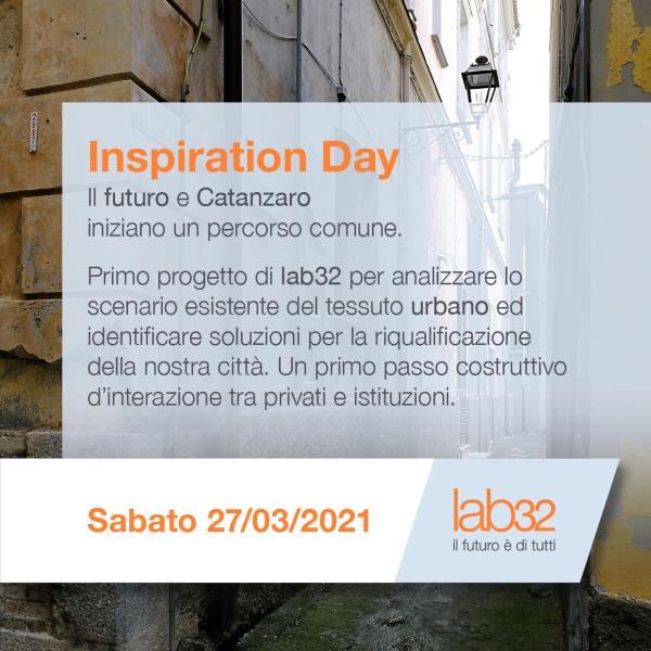 """images Nasce """"Inspiration Day"""" dell'associazione lab32: il futuro e Catanzaro iniziano un percorso comune"""