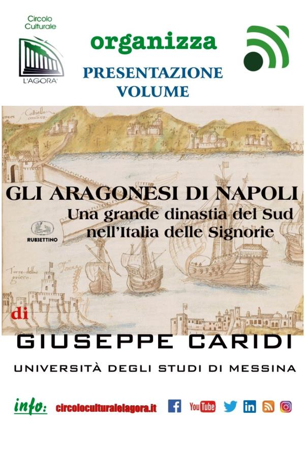 """images """"Gli aragonesi di Napoli"""", il saggio del professore Caridi sarà presentato online il 21 febbraio"""