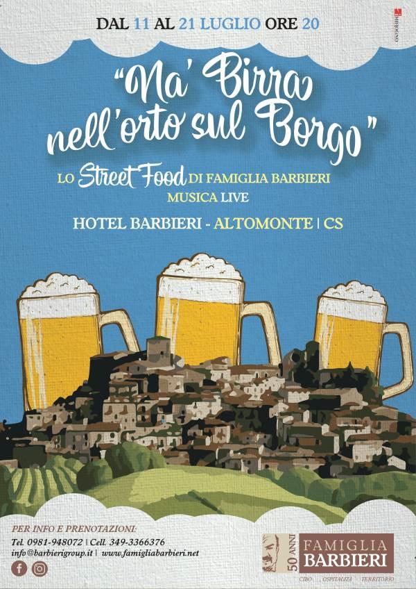 """images Ad Altomonte """"Na birra nell'orto sul borgo"""""""