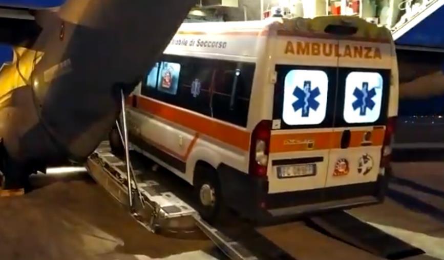 images Lamezia Terme, aereo militare trasporta bambina in pericolo di vita a Torino