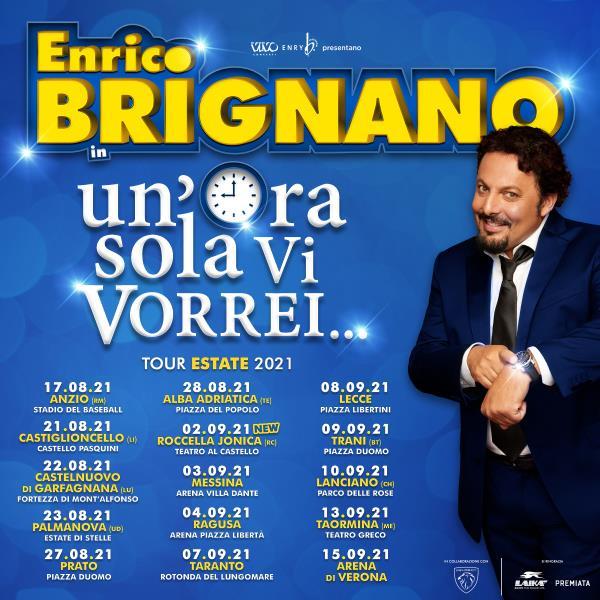 images Roccella Summer Festival. Ci sarà anche Enrico Brignano: il 2 settembre il comico romano al Teatro al Castello