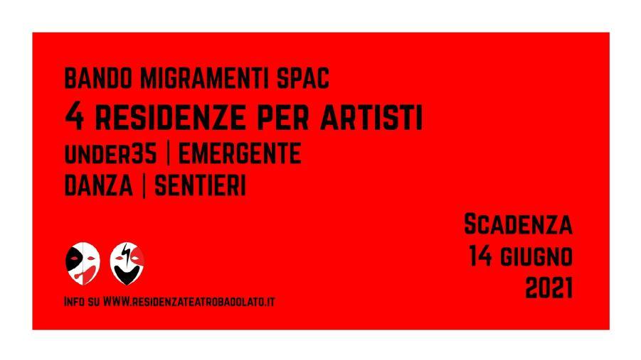 """images Badolato. """"MigraMenti. SPAc"""": c'è tempo fino al 14 giugno per partecipare al bando per residenze artistiche al Teatro Comunale"""