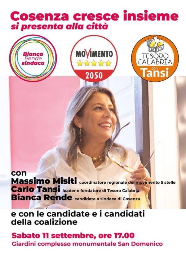 images Elezioni a Cosenza, domani Bianca Rende presenterà la coalizione a sostegno della sua candidatura