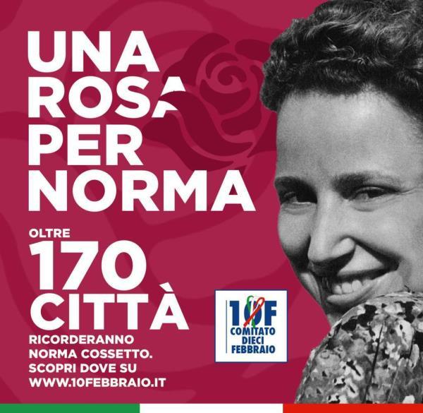 """images Anche Catanzaro ricorda Norma Cossetto: ilComitato 10 Febbraio """"dona"""" una rosa alla giovane studentessa italiana d'Istria torturata"""