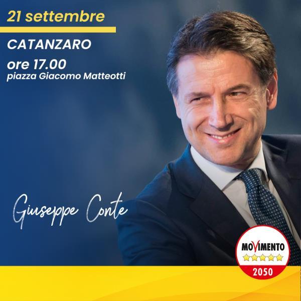 """images Catanzaro. Domani il comizio di Conte, Parentela (M5S): """"Parlerà da una pedana, niente palco: segno di umiltà e dialogo"""""""