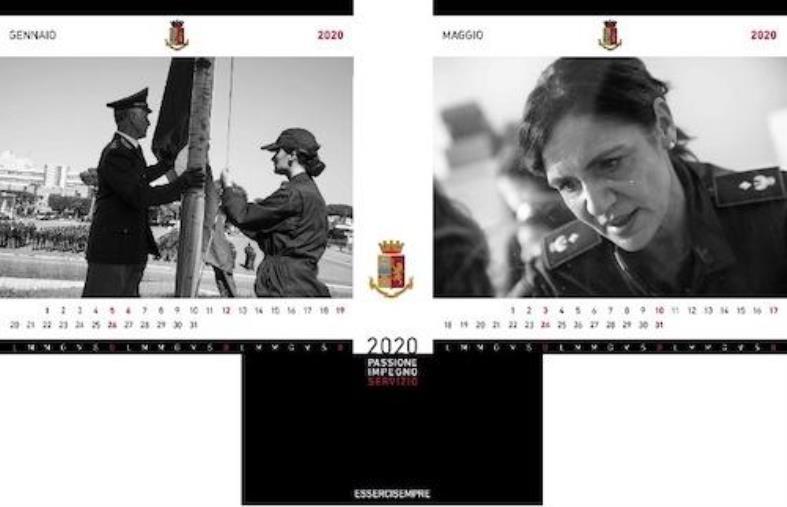 """images Il questore di Catanzaro presenta il calendario della Polizia 2020: """"Il messaggio di quest'anno è passione, impegno, servizio"""""""