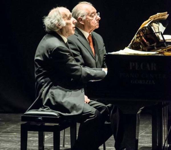 images MusicAMA Calabria. Stasera al teatro Grandinetti di Lamezia Terme di scena il duo Antonio Ballista e Bruno Canino